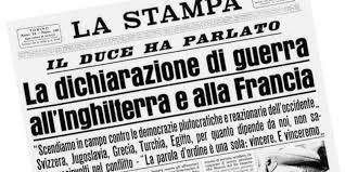 10 giugno: 80 anni fa l'Italia entra in guerra a fianco della Germania nazista